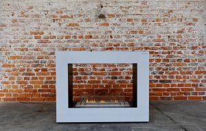 Feuerstelle offen aus Beton mit Ethanol Brenner