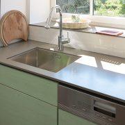 Küche Arbeitsfläche Beton mit Unterbau Spülbecken