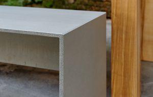 Betonbank Betonmöbel Platten auf Gehrung