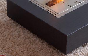 Wohnzimmer Couchtisch Beton mit Feuerstelle