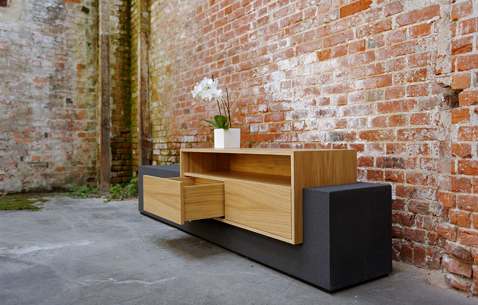 beton sideboard tobias 2 efecto die betonschreiner. Black Bedroom Furniture Sets. Home Design Ideas