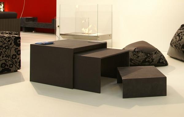 Tisch Set aus Beton leicht