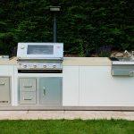 Garten Küche mit Betonarbeitsplatte
