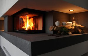 Feuerkammer in Betonverkleidung