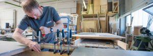 Herstellung einer Beton Arbeitsplatte in unserer Manufaktur