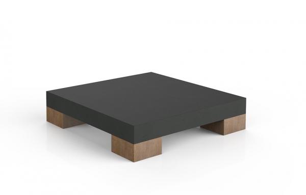 Couchtisch Beton mit Holzfüßen
