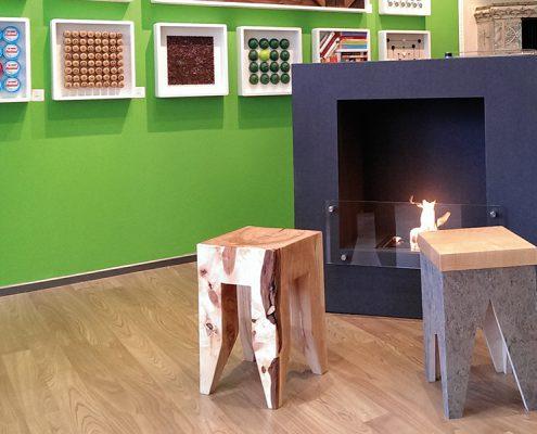 Beton Feuerstelle mit Bio-Ethanol-Brenner