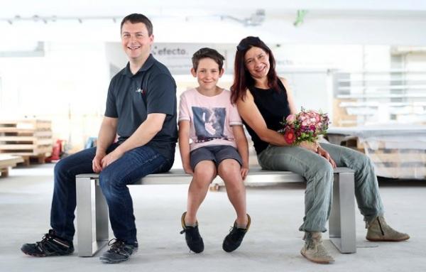 Gewinner der Verlosung Betonbank Leni