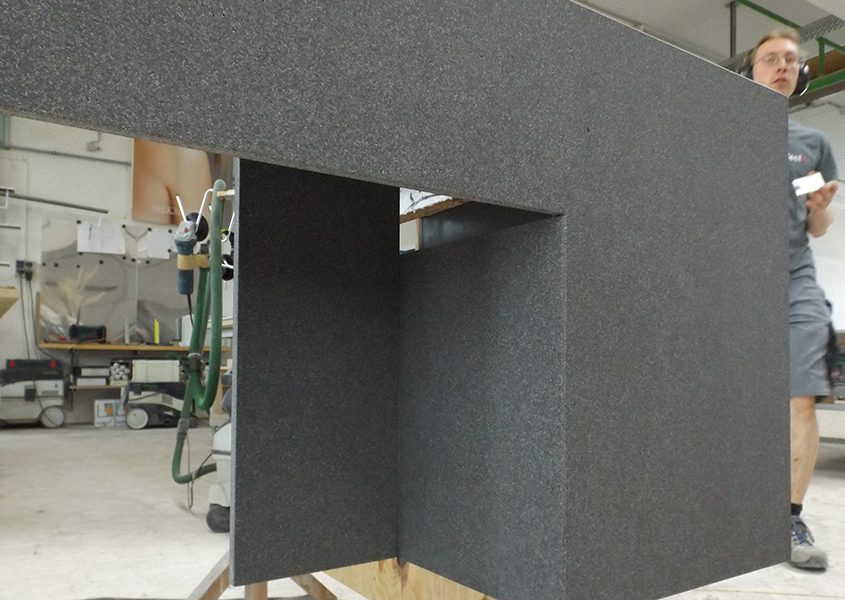 Herstellung von Betonelement aus dünnen Platten
