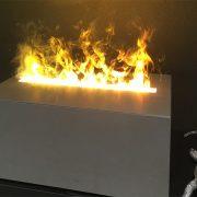 Effekt-Feuer in Betonblock