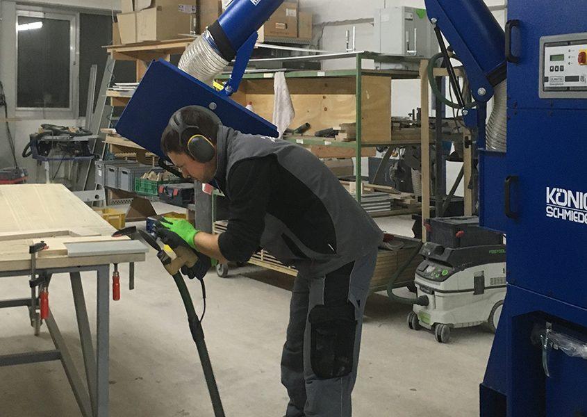 neue Absauganlage König Schmieder in der Werkstatt