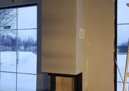 Feuertisch aus Beton eingebaut in Schweden