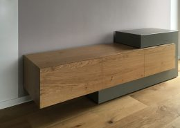 Beton-Sideboard Konrad in Kombination mit Eiche