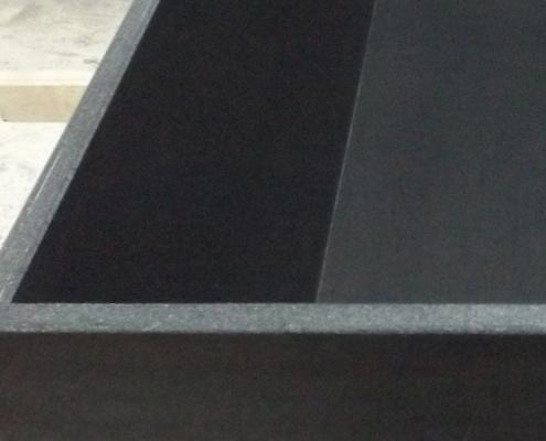 Anischt von geschnittenen Glasfaserbeton Kanten