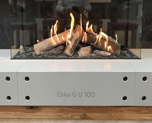 Kaminbank Beton Feuereinsatz Ekko 100
